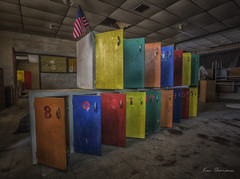 Rainbow Lockers... (explor_it) Tags: quiet tranquil wideangle weather wood explore exploring exposure earlymorning reallyrightstuff rust artwork texture unitedstates urbex urbanexploring oldbuildings oldwood outinnature photography architecture abandonded access deepsouth decay fun forgotten f56 f8 gorgeous hiking kenthomannphotography landscape longexposure lighting lightpainting lights lostplaces canon1635mmf28lii canon6d view buildings oldstuff art exploration preciousjunk fineart pointofview classic naturallight lostintime famousplaces