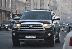 AA7330OK (License plates spotter from Ukraine) Tags: toyota sequoia licenseplates ukraine kyiv номернізнаки aa7330ok aa україна київ aaok black