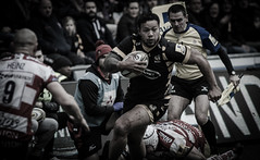 Alapati Leiua made a strong impact today (davidhowlett) Tags: gloucester aviva rugby wasps coventry ricoh premiership