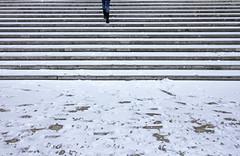 White Stripes (CoolMcFlash) Tags: street streetphotography vienna white snow winter stairs canon eos 60d strase wien weis schnee stufen treppen fotografie photography legs beine tamron b008 18270 minimalistic minimalism minimalistisch