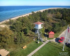 Lake Superior View from atop the Whitefish Point Lighthouse (PhotosToArtByMike) Tags: whitefishpointlightstation whitefishpoint michigan greatlakesshipwreckmuseum whitefishpointmichigan mi lakesuperior paradisemichigan upperpeninsulaofmichigan upperpeninsula lighthouseatwhitefishpoint up uppermichigan maritimehistory