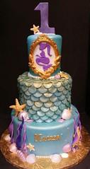 Mermaid Cake (dragosisters) Tags: seaweed scales cake gold purple teal mermaid