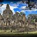Panorama of Bayon Temple at Angkor Thom