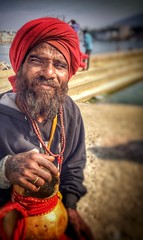 Faces of India series (Nick Kenrick..) Tags: india pushkar rajasthan hindu portrait pilgrim sadhu turban