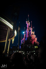 Evening in Fantasyland (Jojo_VH) Tags: 2015 chateaudelabelleauboisdormant dlp disneylandparis lightroom nighttime sleepingbeautycastle afterdark castle disney fantasyland summer
