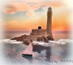 Epicurus Sailing -Lighthouse (Poppys_Second_Life) Tags: popi popikone popikonesadventuresin2l popisadventuresin2l 2l secondlife virtualphotography poppy picsbyⓟⓞⓟⓟⓨ sl lighthouse sailing epicurus trudeau blakesea