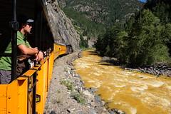 Polluted Animas River (Flickmor) Tags: train rockies colorado animasriver sanjuannationalforest durangosilvertonnarrowgaugerailroad