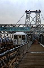 J-Train crossing the Williamsburg Bridge (2 of 2) (gg1electrice60) Tags: nyc newyorkcity bridge architecture brooklyn subway manhattan tracks structure boardwalk mta newyorkstate jtrain nyta bmt cityofnewyork thirdrail subwaycars pedestrianwalkway metropolitantransitauthority r42 boroughofbrooklyn williamsburgebridge newyorktransitauthority brooklyncounty