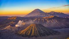 Sunrise overseeing Mount Batok, Mount Bromo and Mount Semeru (tehhanlin) Tags: indonesia sony tengger mountbromo seaofsand mountsemeru probolinggo cemorolawang ngadisari bromotenggersemerunationalpark mountbatok lautanpasir fe55 a7rii a7r2 a7rmk2