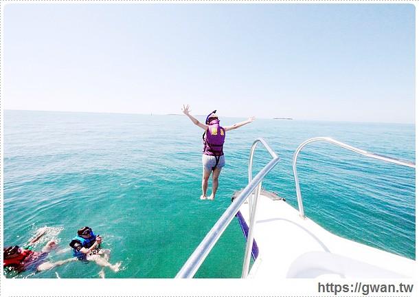 [澎湖景點●白沙鄉] 後寮大白沙嶼–無人祕境浮潛♪英勇跳水、悠游海裡世界☆