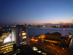 201508143 New York City Whitney Museum, Hudson and New Jersey (taigatrommelchen) Tags: 20150835 usa nj ny newjersey newyork nyc manhattan meatpackingdistrict hoboken jerseycity newyorkcity sky dusk river hudson icon city skyline building explore