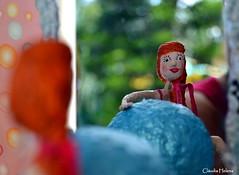 Pilates (* Cláudia Helena * brincadeira de papel *) Tags: brazil love brasil doll amor health boneca pilates papermache saúde papiermachè papelmachê cláudiahelena