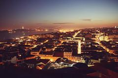 (RucksackundKamera) Tags: sunset portugal sonnenuntergang sundown nacht lisboa himmel stadt lissabon brcke tejo sonne lichter ponte25deabri