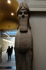 Face to face with an Assyrian lamassu (heffelumpen9) Tags: sculpture museum british britishmuseum lamassu assyria nimrud assyrianart neoassyrian
