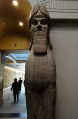 Face to face with an Assyrian lamassu (heffelumpen9) Tags: sculpture museum british britishmuseum lamassu assyria nimrud assyrianart neoassyrian