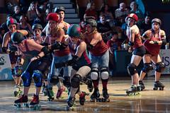 rebels_vs_panic_L3506565 1 (nocklebeast) Tags: ca usa santacruz rollerderby rollergirls zombies vampires skates organicpanic santacruzderbygirls redwoodrebels