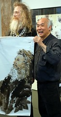Stan Chan Demo (Watercolour NZ) Tags: art workshop chinesebrushpainting stanchan watercolournewzealand