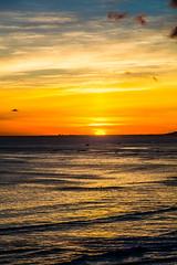 Waikiki Beach Sunset, O'ahu - 12 (www.bazpics.com) Tags: ocean sunset sea sky usa seascape color colour beach silhouette america plane landscape island hawaii us seaside surf waves unitedstates pacific waikiki oahu outdoor united horizon surfing shore hawaiian boardwalk surfers hi honolulu states takeoff aiport hln