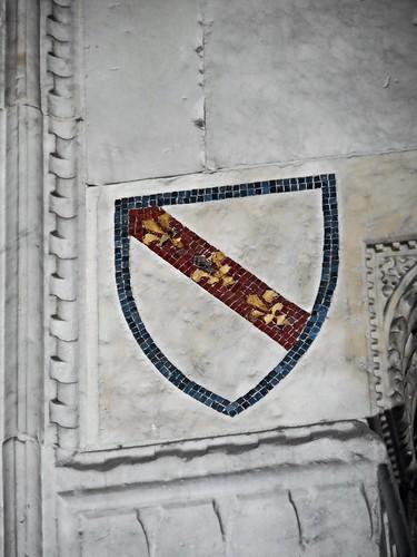 Capano coat-of-arms (mosaic 14th century) - Sant'Antonio Abate Church in Naples