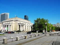 Warsaw City Center, Poland, May 2014 (leonyaakov) Tags: travel holiday history monument architecture holocaust wwii poland warsaw citycenter ghetto sunnyday capitalcity citytour
