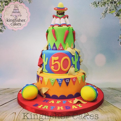 Strange Yesterdays Fabulous 3 Tier Mexican Themed Joint 50Th Birthday Funny Birthday Cards Online Alyptdamsfinfo