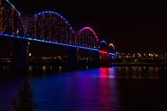 reflections (michaelboylan146) Tags: light ohio reflection night river kentucky louisville