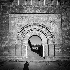 Main gate (Samere Fahim Photography) Tags: door light sky bw panorama canon square photography eos algeria blackwhite gate noiretblanc lumire panoramic nb ciel squareformat maghreb porte algerie minimalism sameer samir minimalist squarecrop  algrie panoramique   fahim  mansourah tlemcen samere canonef1635mmf28liiusm   eos5dmarkiii 5d3 5dmarkiii 5dmark3 eos5dmark3 wilayadetlemcen samerefahimphotography   tilimcen maghrebarab samirfahim samerefahim
