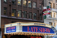 The new marquee (DC Products) Tags: newyorkcity newyork tv manhattan broadway midtown edsullivantheater 2015 filminglocations thelateshowwithstephencolbert
