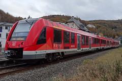 DB Diesel motor trainset N 620.009  in Bad Mnstereifel. (Franky De Witte - Ferroequinologist) Tags: de eisenbahn railway estrada chemin fer spoorwegen ferrocarril ferro ferrovia
