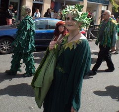 Deptford Jack-in-the-green parade, London (oldrockerward) Tags: old england people woman green english heritage history girl leaves female jack leaf costume outfit calendar folk earth feminine femme traditional greenwich creative roots culture streetphotography ivy folklore historic parade wyrd lipstick tradition frau custom mayday past deptford guapa wicca mdchen alternative humans olde pagan greenwoman sweeps schn dziewczyna jackinthegreen pikny kvinna  kvinnlig