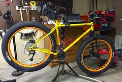 Da Pugs ready for snow tomorrow (Doug Goodenough) Tags: bicycle bike cycle surly pugsley fatbike fat snow winter pedals spokes 2015 nov november drg53115 15 drg53115p drg53115ppugs4sale drg531ppugsley drg531