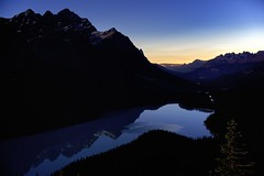 Peyto Blue Midnight (John Andersen (JPAndersen images)) Tags: summer night banff peytolake