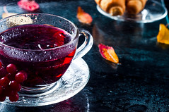 Romantic autumn cup of tea with  leaves (lyule4ik) Tags: autumn winter red wild food white hot flower home cup nature wet water glass rain rose fruit vintage table relax wooden leaf healthy berry branch natural bright tea drink sweet background smoke seasonal beverage fresh medical health mug raspberry medicine organic teacup relaxation flu herb herbal rosehip ripe vitamin antioxidant