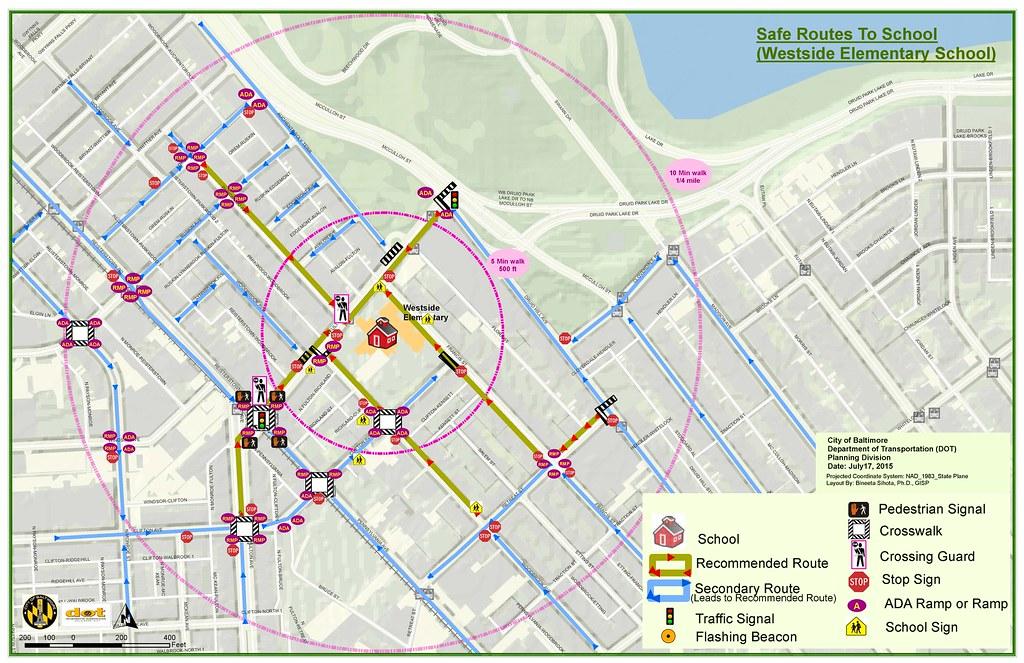 Min Dot Traffic Map.Temporary Baltimore City Department Of Transportation