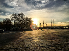 Dont Close your eyes (Mohmed Althani) Tags: travel sunset sea sky cloud sun seascape tree love water oslo norway architecture clouds sunrise seaside outdoor no bluewater missyou doha topshots iphone6 iphone6s