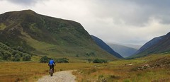 Heading up Gleann Mor