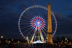 Place de la Concorde (ewan.osullivan) Tags: paris france placedelaconcorde obélisquedelouxor rouedeparis luxorobelisk ferriswheel lights night