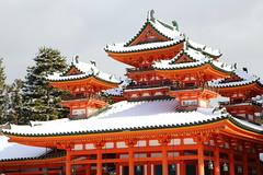 Snowy day (Teruhide Tomori) Tags: 京都 日本 平安神宮 岡崎 洛中 冬 雪 寺社建築 winter snow japan japon shrine architecture construction building heianjingushrine