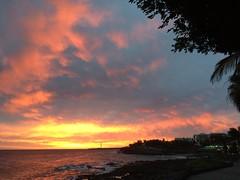 Sunset over the sea (markshephard800) Tags: sunlit sunlight sea beach reflections clouds coast coastline lighthouse colours colors coleurs kleuren waves