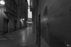 Alde Zaharra, Bilbo, Bizkaia, Euskal herria (Basque Country). 2017.01.09 (AnderTXargazkiak) Tags: aldezaharra bilbo bizkaia euskalherria basquecountry baskenland zuriaetabeltza blackandwhite blancoynegro monocromático reflejos reflections islak city ciudad hiria street night noche iluntzean ander andertxrekordseh andertxargazkiak txrekordseh