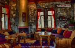 Fairytale .. (inside of a restaurant at Prespes lake) (Argiriou Vassiliki) Tags: colors village indoor colorful decoration inside fireplace room villages greek mountains architecture greece restaurant fairytale prespa prespes florina agios achillios lakes macedonia tales water greel restaurants macedoniagreece talesofwater agiosachillios livingroom greekrestaurants makedonia timeless macedonian μακεδονια