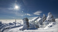 Perfect day... (ChusPS) Tags: montseny barcelona catalonia catalunya unesco nikon light sun snow winter landscape turódelhome mediterranean views ice shine flickrsbest white blue vallès summit mountain