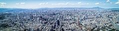 The View from 101 (Rice Bear) Tags: taipei taiwan pano panorama skyline skyscrapers buildings streets taipei101observatory clouds sky blue