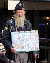 I have no home... (Landahlauts) Tags: andalucia desconocido fujifilmfujinonxf55200mmf3548rlmois fujifilmxpro1 hombre homeless man robado robandoalmas rumano stealingsouls stranger unionjack calle streen