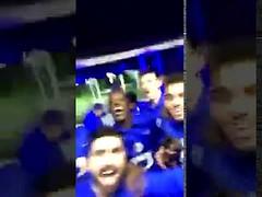 فرحة ادواردو و لاعبي الهلال بفوز برشلونه على باريس 6-1 (ahmkbrcom) Tags: باريس لاعبيالهلال