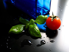 RGB tests (Giuseppe Bognanni) Tags: blue light red stilllife green colors tomato basil rgb pomodoro basilico novideo interestingness416 i500 bognanni disc0stu giuseppebognanni