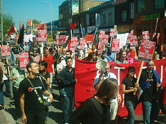 No One Is Illegal  National Day of Action - Toronto March, Saturday May 27, 2006 - 041 (HiMY SYeD / photopia) Tags: people toronto march civilrights socialjustice workersrights nooneisillegal immigrantrights