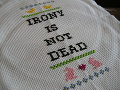 Subversive cross stitch done (stupid clever) Tags: crossstitch irony subversivecrossstitch