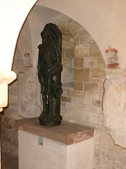 statue inside st george\'s basilica and convent