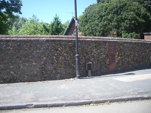 Stone wall in Cambridge